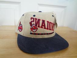 vintage cleveland indians snapback hat 80s 90s
