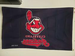 VINTAGE RARE 1995 CLEVELAND INDIANS 3'X5' CHIEF WAHOO HOUSE